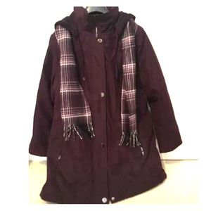 Women's winter jacket and scarf